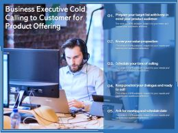Business Executive Cold Calling To Customer For Product Offering