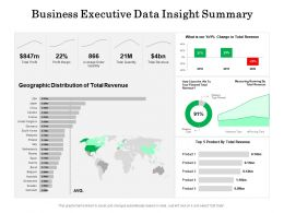 Business Executive Data Insight Summary