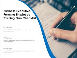 Business Executive Forming Employee Training Plan Checklist