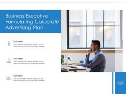 Business Executive Formulating Corporate Advertising Plan
