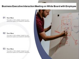 Business Executive Interaction Meeting On White Board With Employee