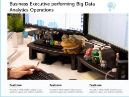Business Executive Performing Big Data Analytics Operations