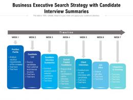 Business Executive Search Strategy With Candidate Interview Summaries