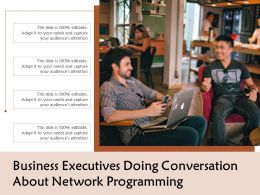 Business Executives Doing Conversation About Network Programming