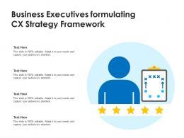 Business Executives Formulating CX Strategy Framework