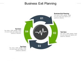 Business Exit Planning Ppt Powerpoint Presentation Design Ideas Cpb