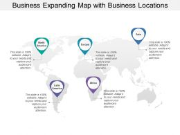 Business Expanding Map With Business Locations