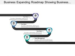 Business Expanding Roadmap Showing Business Development