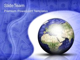 Business Expansion Strategy Powerpoint Templates Dollar Globe Ppt Slides