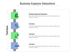 Business Expense Deductions Ppt Powerpoint Presentation Inspiration Design Templates Cpb