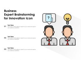 Business Expert Brainstorming For Innovation Icon