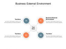 Business External Environment Ppt Powerpoint Presentation Gallery Good Cpb