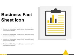 Business Fact Sheet Icon
