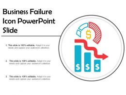 Business Failure Icon Powerpoint Slide
