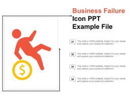 Business Failure Icon Ppt Example File