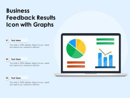 Business Feedback Results Icon With Graphs