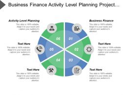 Business Finance Activity Level Planning Project Level Planning