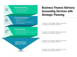 Business Finance Advisory Accounting Services With Strategic Planning