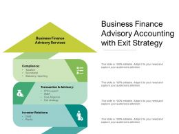 Business Finance Advisory Accounting With Exit Strategy