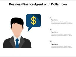 Business Finance Agent With Dollar Icon