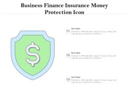 Business Finance Insurance Money Protection Icon