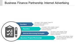Business Finance Partnership Internet Advertising Strategies Collaborative Strategy Cpb