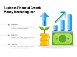 Business Financial Growth Money Increasing Icon
