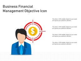 Business Financial Management Objective Icon