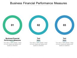 Business Financial Performance Measures Ppt Powerpoint Presentation Infographics Cpb