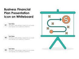 Business Financial Plan Presentation Icon On Whiteboard