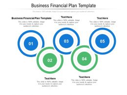 Business Financial Plan Template Ppt Powerpoint Presentation Gallery Icons Cpb