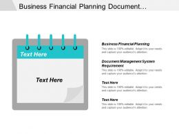 Business Financial Planning Document Management System Requirements International Business Cpb