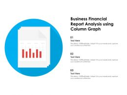 Business Financial Report Analysis Using Column Graph