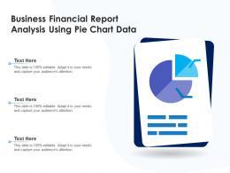 Business Financial Report Analysis Using Pie Chart Data