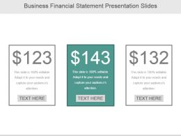 Business Financial Statement Presentation Slides