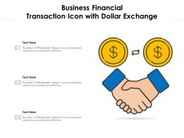 Business Financial Transaction Icon With Dollar Exchange