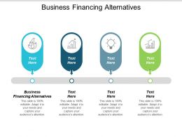 Business Financing Alternatives Ppt Powerpoint Presentation Gallery Infographics Cpb