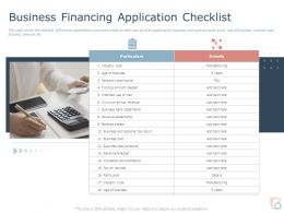 Business Financing Application Checklist Ppt Powerpoint Presentation Template