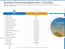Business Financing Application Checklist Year Ppt Powerpoint Presentation Infographic Template