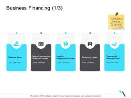 Business Financing Commercial Business Operations Management Ppt Demonstration
