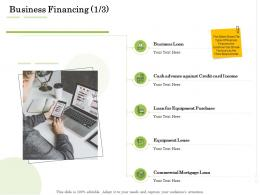 Business Financing Equipment Administration Management Ppt Brochure