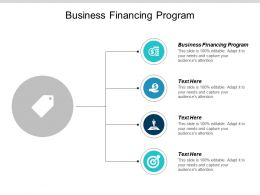 Business Financing Program Ppt Powerpoint Presentation Pictures File Formats Cpb