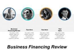 Business Financing Review Ppt Powerpoint Presentation Gallery Portfolio Cpb