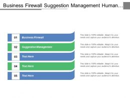 Business Firewall Suggestion Management Human Resources Processes Organizational Development Cpb