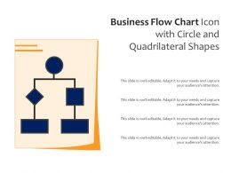 Business Flow Chart Icon With Circle And Quadrilateral Shapes