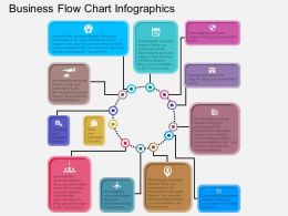 Business Flow Chart Infographics Flat Powerpoint Desgin
