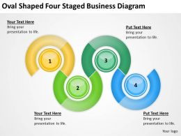 Business Flow Chart Oval Shaped Four Staged Diagram Powerpoint Templates