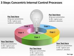 Business Flow Charts 3 Steps Concentric Internal Control Processes Powerpoint Templates
