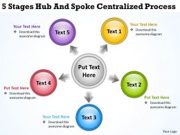 business_flow_charts_examples_5_stages_hub_and_spoke_centralized_process_powerpoint_slides_Slide01