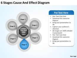 Business Flow Charts Examples 6 Stages Cause And Effect Diagram Powerpoint Slides